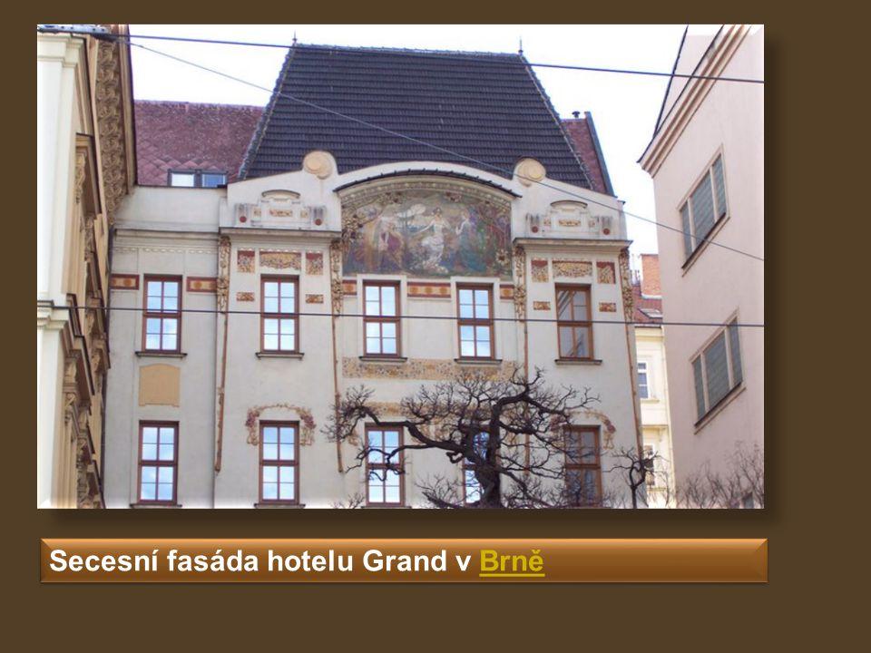 Secesní fasáda hotelu Grand v BrněBrně Secesní fasáda hotelu Grand v BrněBrně