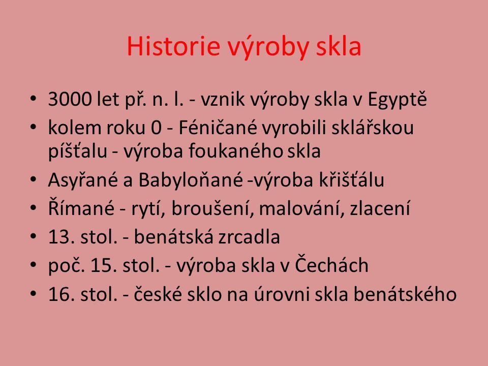Historie výroby skla 3000 let př. n. l.