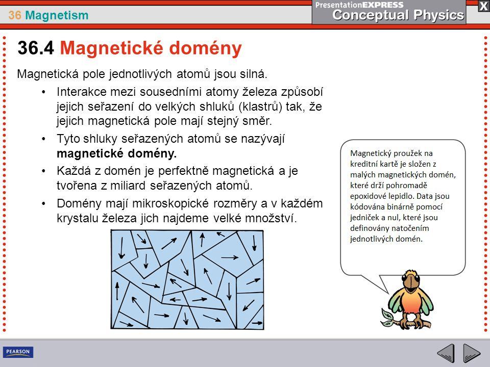 36 Magnetism Magnetická pole jednotlivých atomů jsou silná.