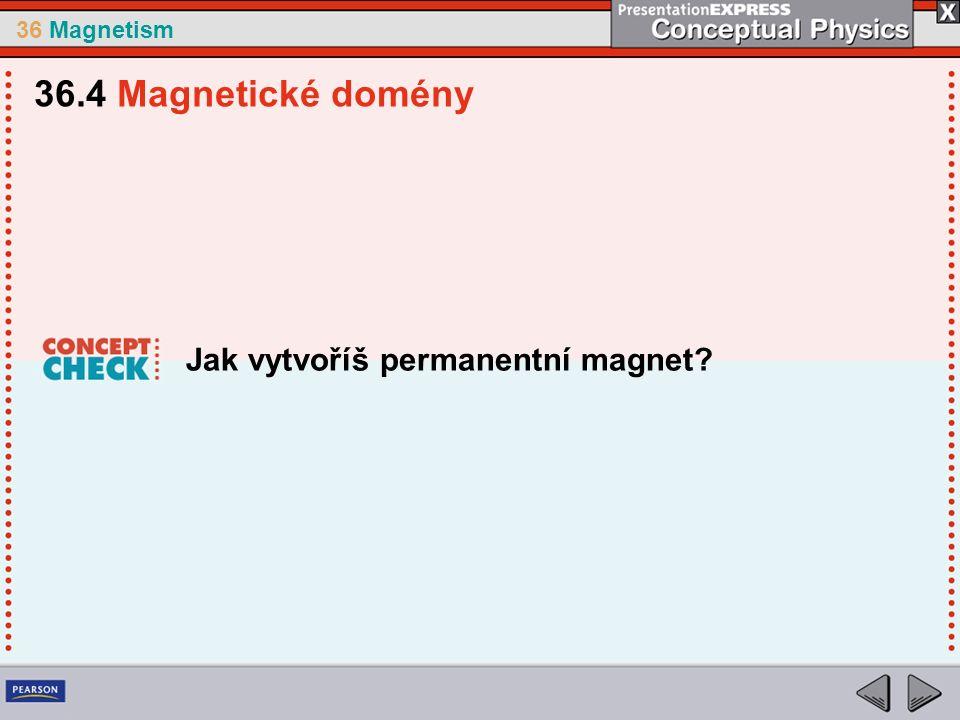 36 Magnetism Jak vytvoříš permanentní magnet 36.4 Magnetické domény