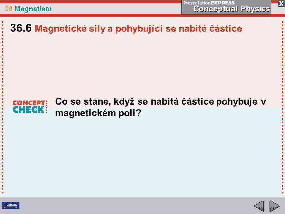 36 Magnetism Co se stane, když se nabitá částice pohybuje v magnetickém poli.