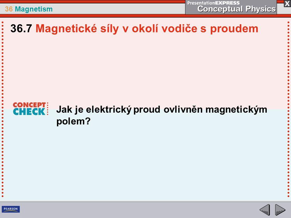36 Magnetism Jak je elektrický proud ovlivněn magnetickým polem.