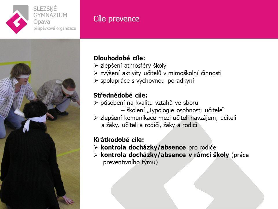 Cíle prevence  prevence studentů 1.