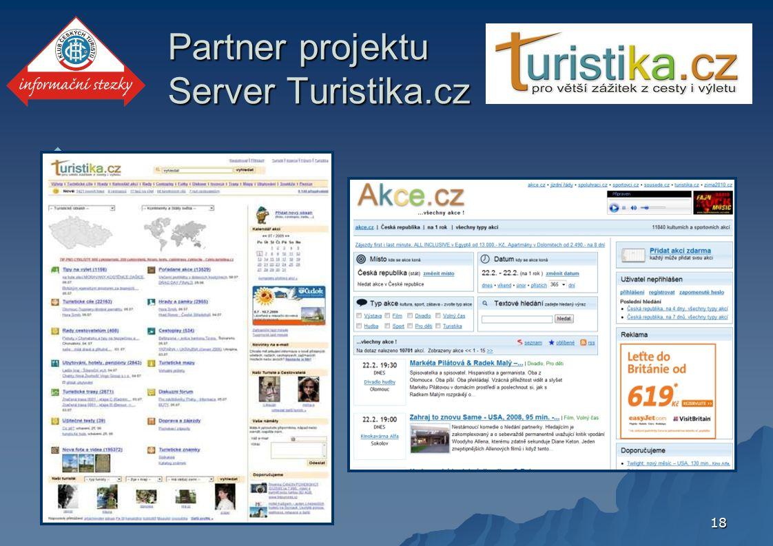 18  Partner projektu Server Turistika.cz
