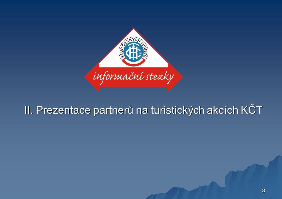 8 II. Prezentace partnerů na turistických akcích KČT