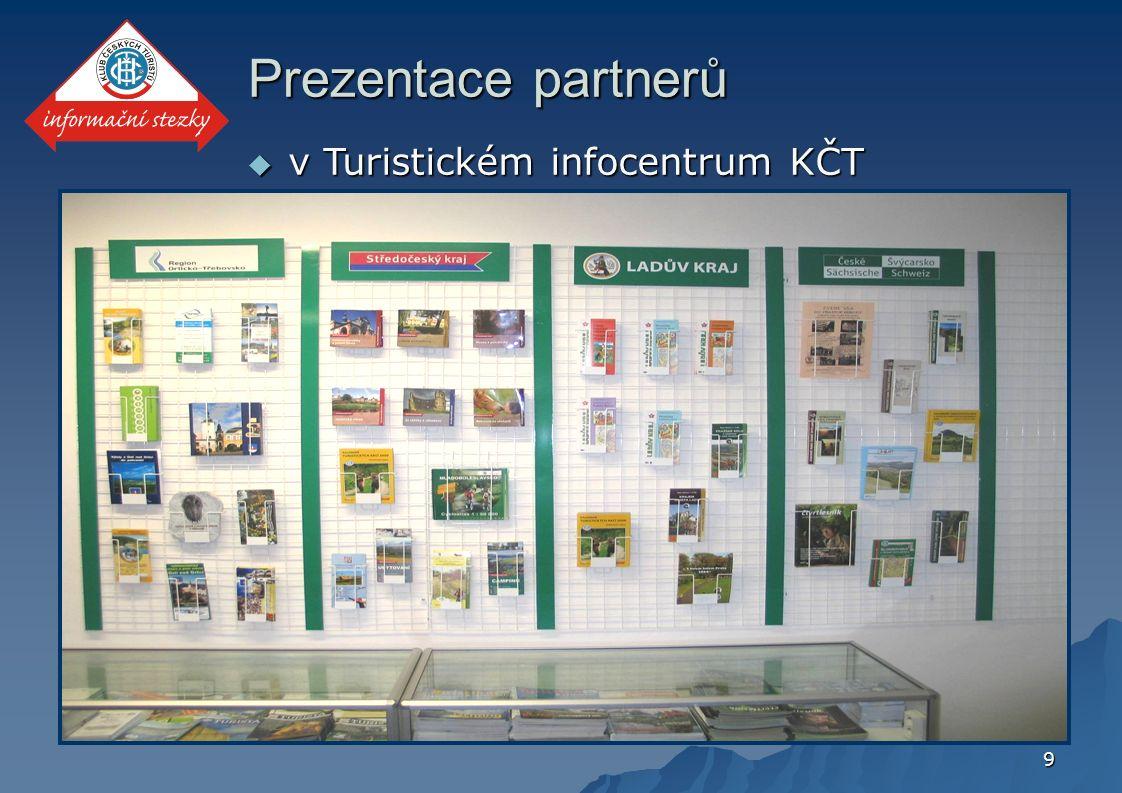 9 Prezentace partnerů  v Turistickém infocentrum KČT