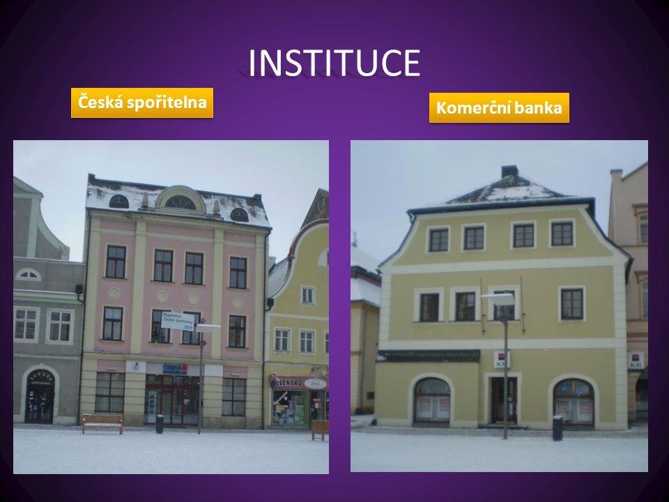 INSTITUCE Česká spořitelna Komerční banka