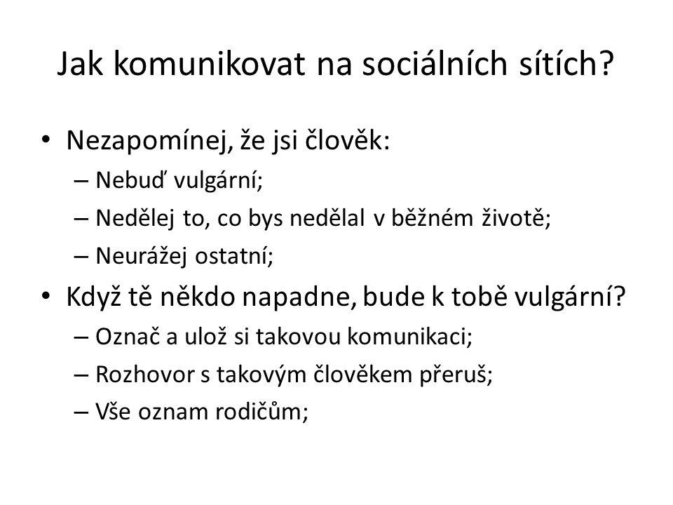Jak komunikovat na sociálních sítích.