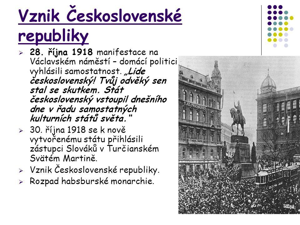 Vznik Československé republiky  28.
