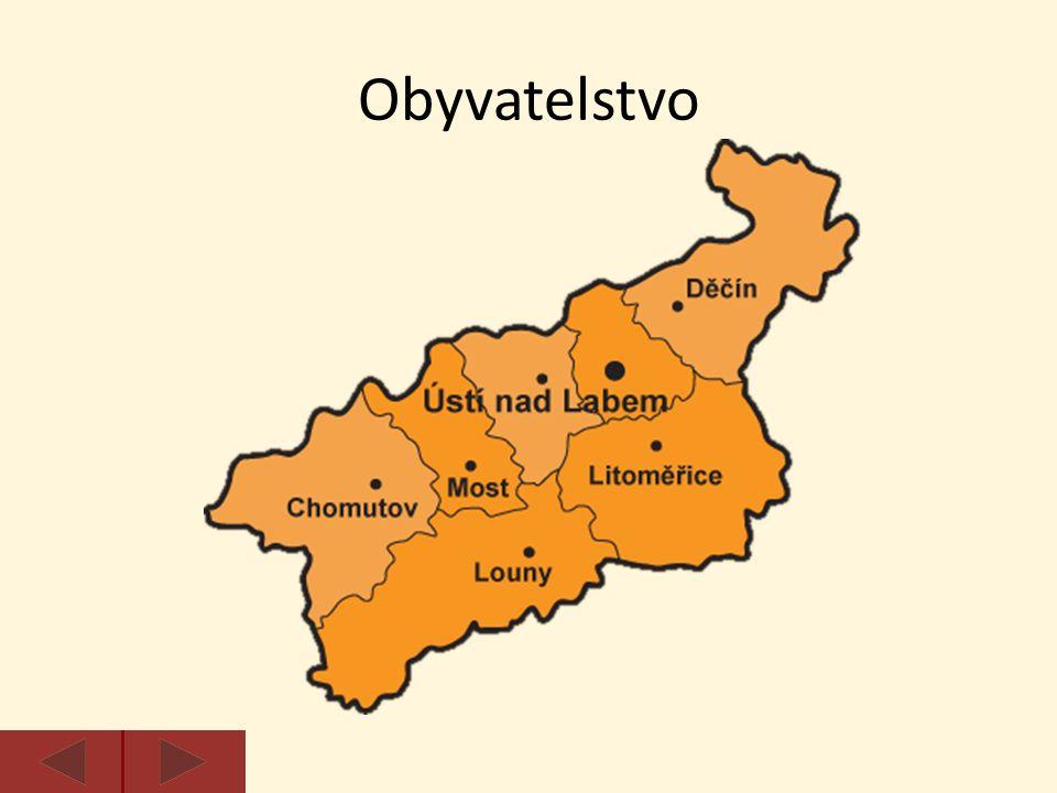 Krajským městem je Ústí nad Labem.Další velká města jsou Chomutov, Most, Teplice a Děčín.