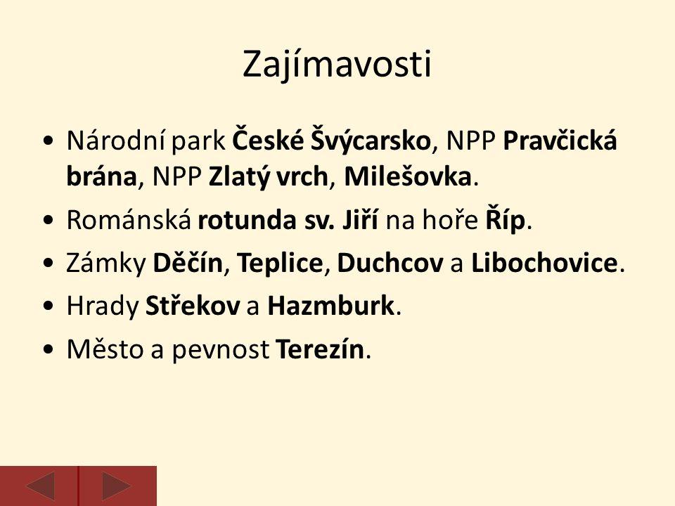 Zajímavosti Národní park České Švýcarsko, NPP Pravčická brána, NPP Zlatý vrch, Milešovka.