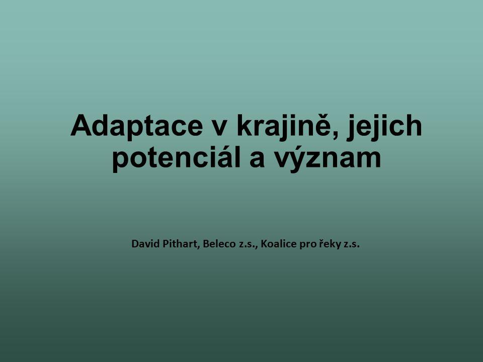 Adaptace v krajině, jejich potenciál a význam David Pithart, Beleco z.s., Koalice pro řeky z.s.