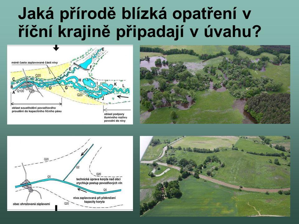 Jaká přírodě blízká opatření v říční krajině připadají v úvahu?