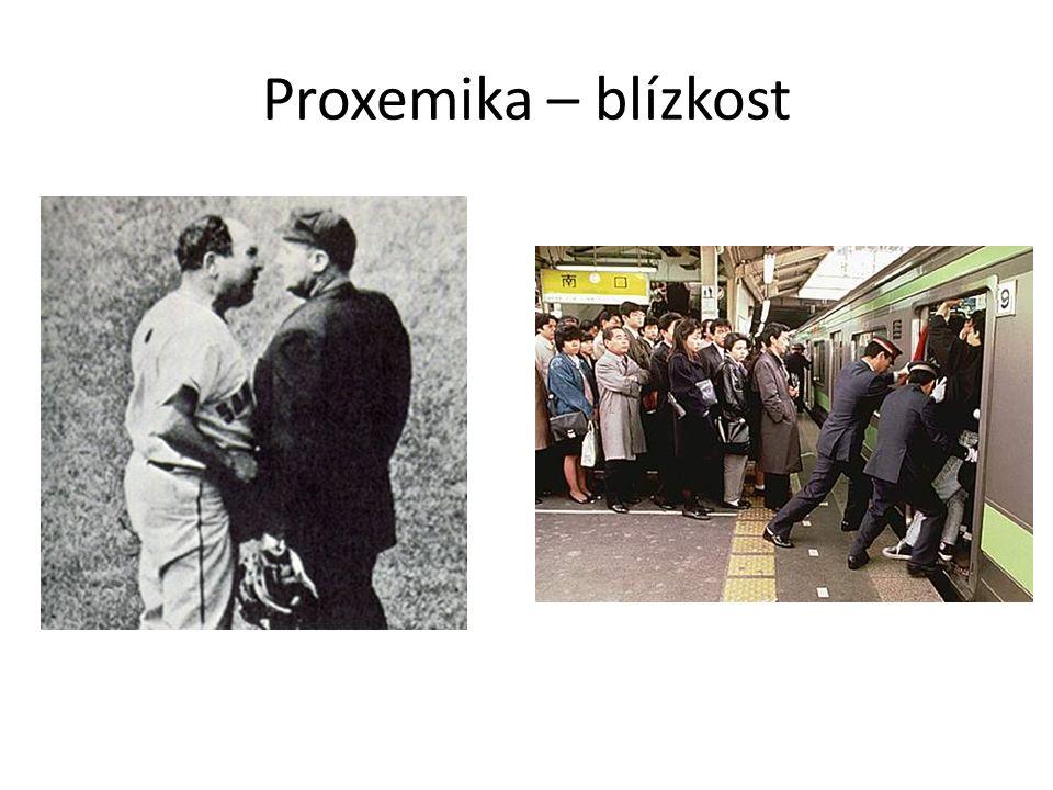 Proxemika – blízkost