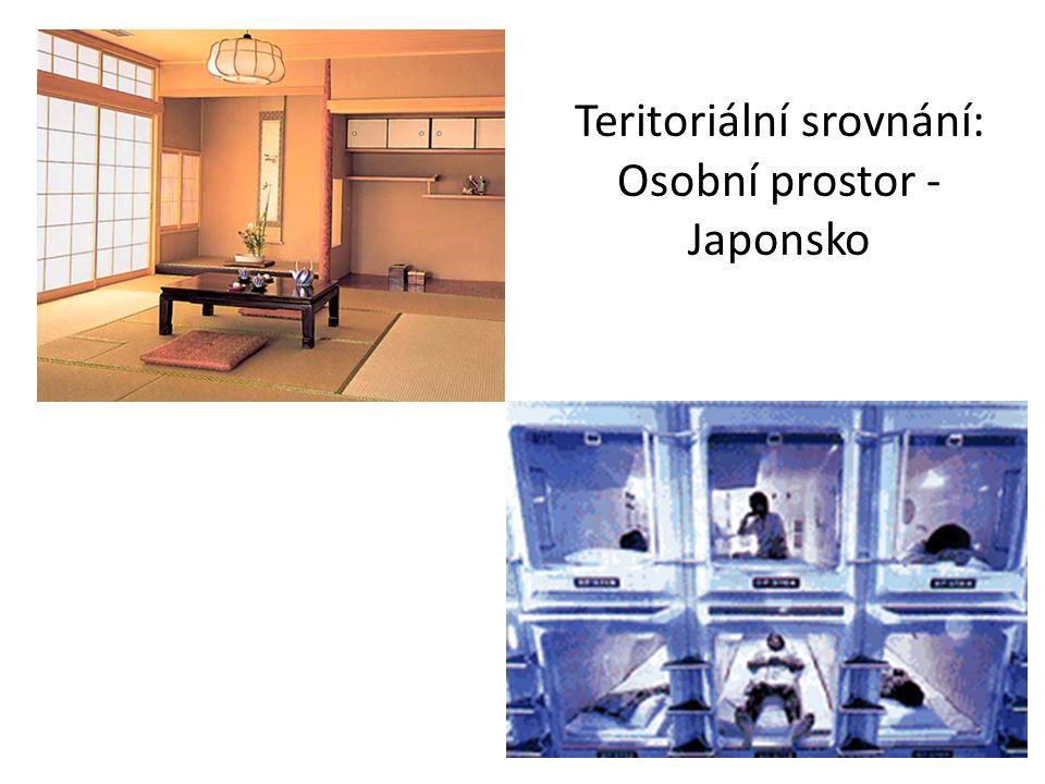 Teritoriální srovnání: Osobní prostor - Japonsko