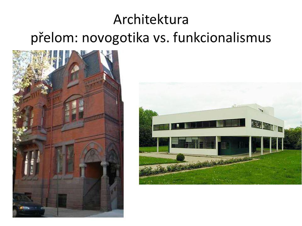 Architektura přelom: novogotika vs. funkcionalismus