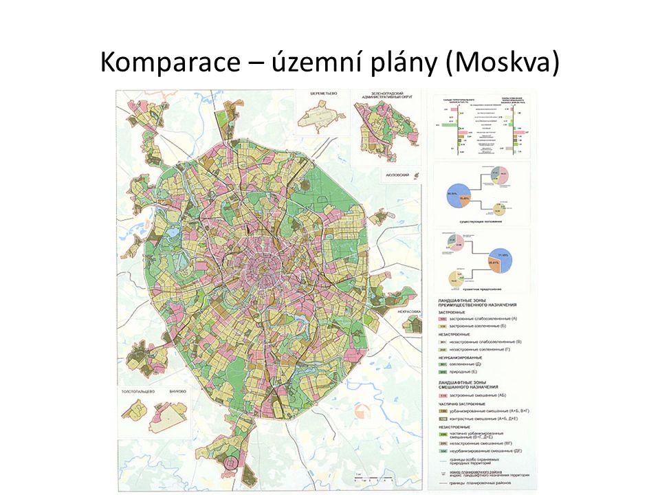 Komparace – územní plány (Moskva)
