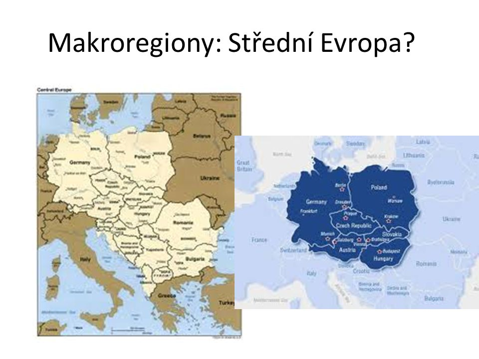 Makroregiony: Střední Evropa