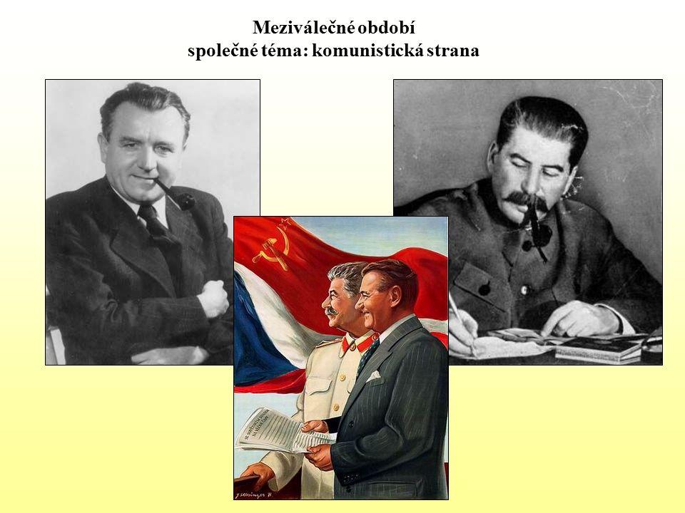 Meziválečné období společné téma: komunistická strana