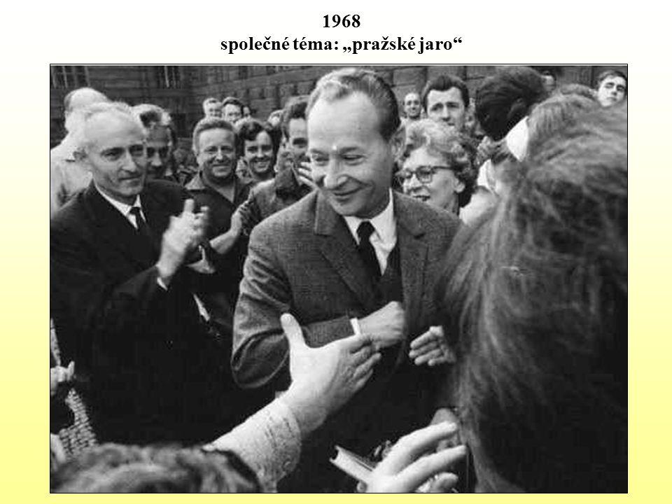 """1968 společné téma: """"pražské jaro"""""""