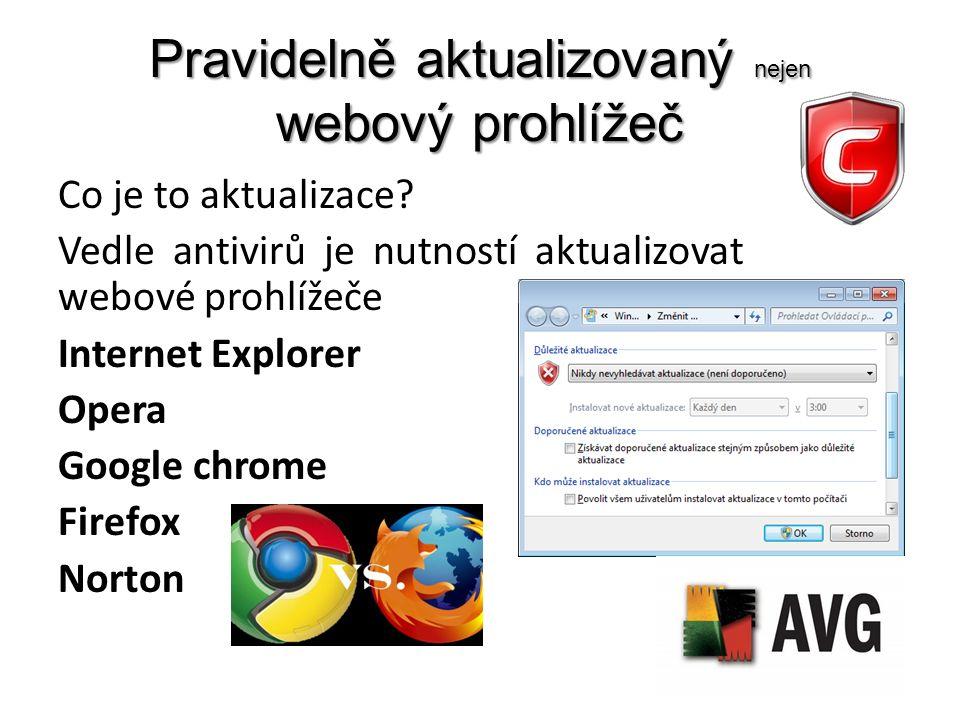 Pravidelně aktualizovaný nejen webový prohlížeč Co je to aktualizace.