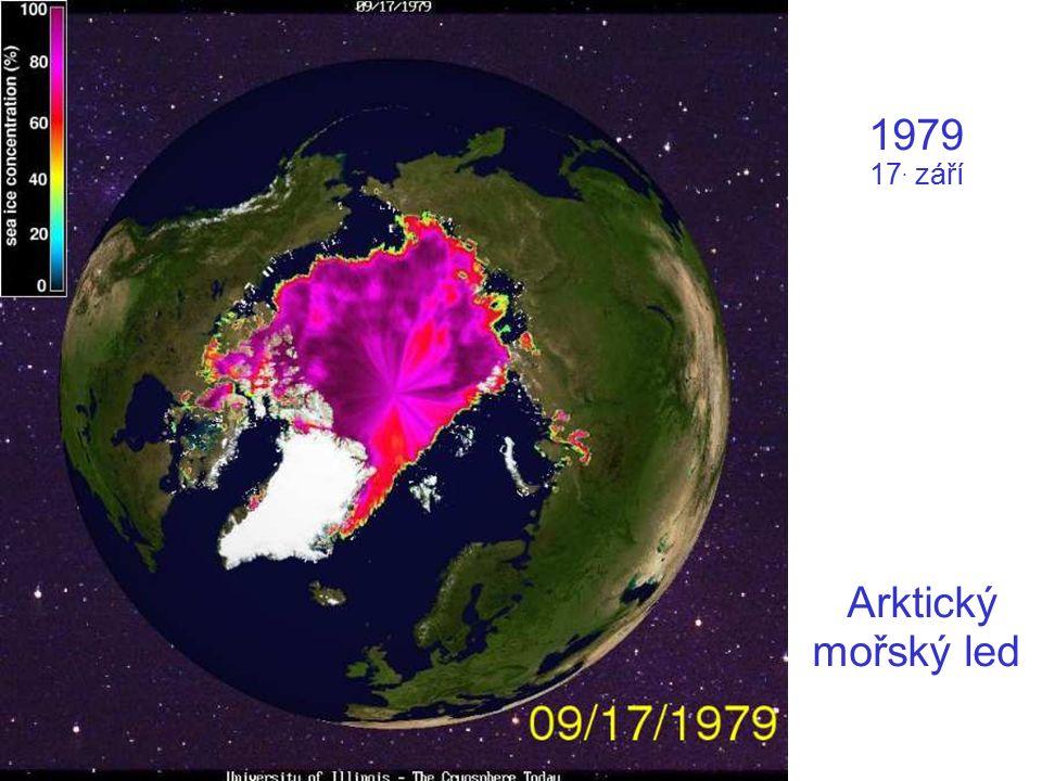 1979 17. září Arktický mořský led