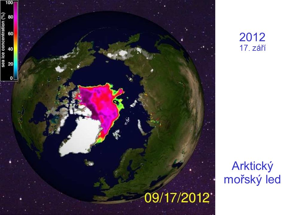 2012 17. září Arktický mořský led