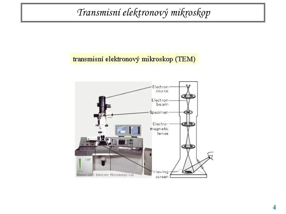 4 Transmisní elektronový mikroskop