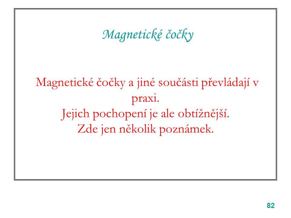 82 Magnetické čočky Magnetické čočky a jiné součásti převládají v praxi.