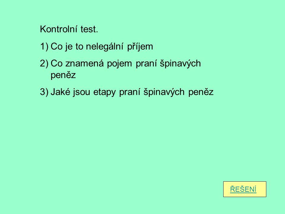 Kontrolní test.