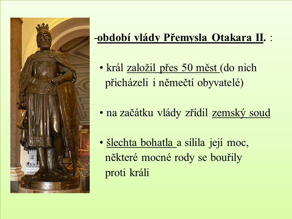 -období vlády Přemysla Otakara II.