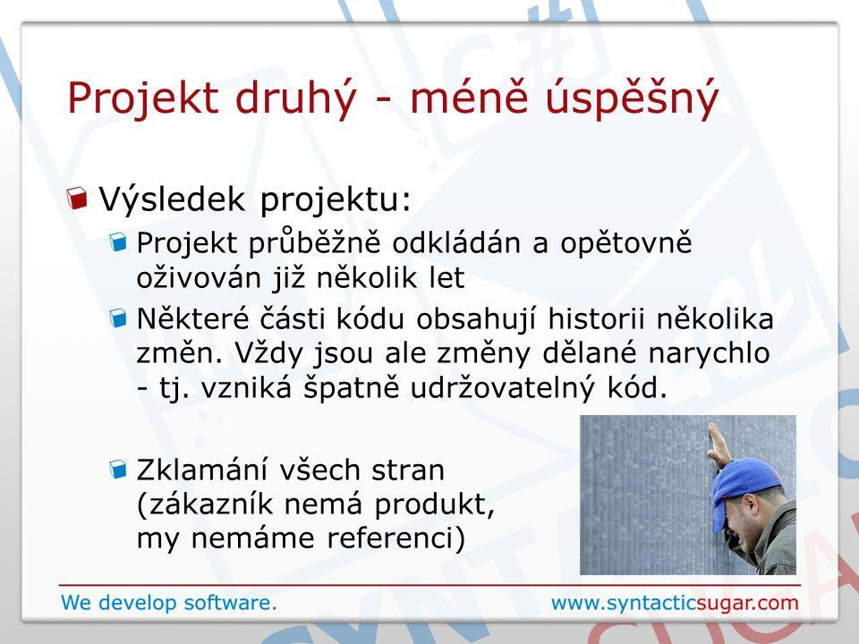 Projekt druhý - méně úspěšný Výsledek projektu: Projekt průběžně odkládán a opětovně oživován již několik let Některé části kódu obsahují historii několika změn.