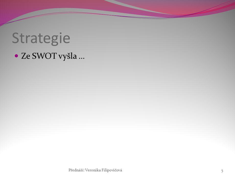 Strategie Ze SWOT vyšla … Přednáší: Veronika Filipovičová5