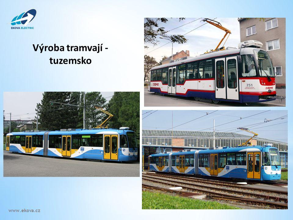 Výroba tramvají - tuzemsko www.ekova.cz