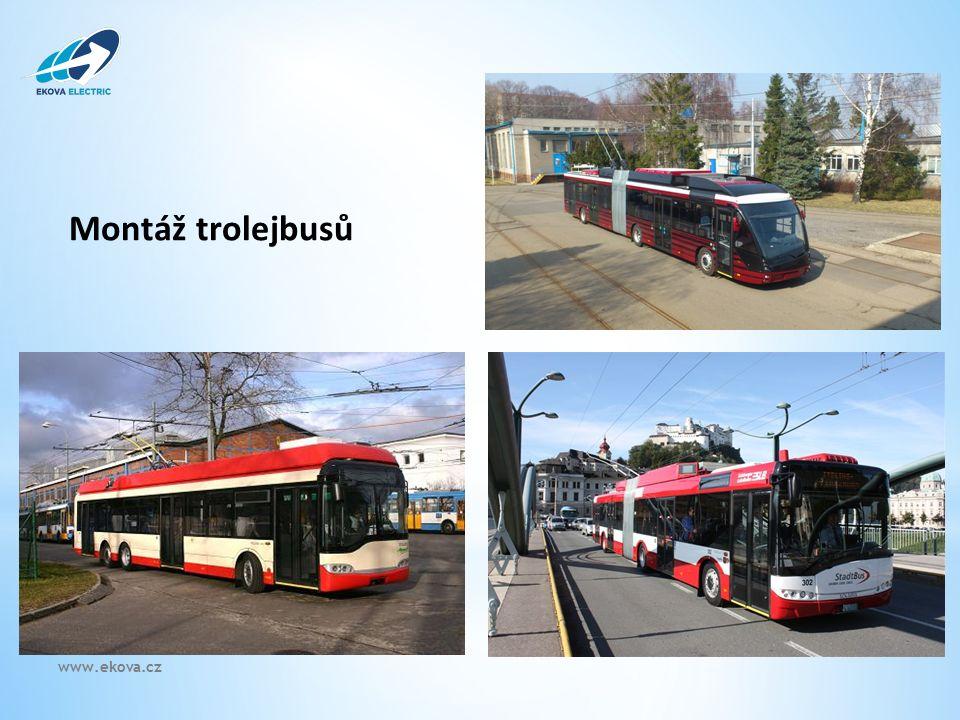 Montáž trolejbusů www.ekova.cz