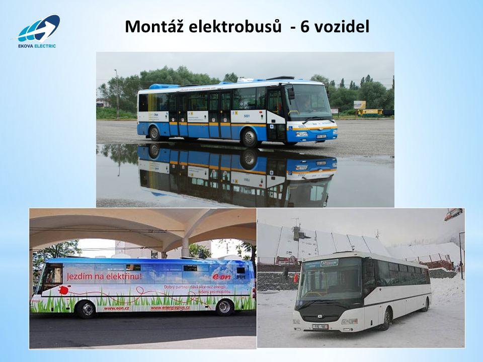Montáž elektrobusů - 6 vozidel www.ekova.cz