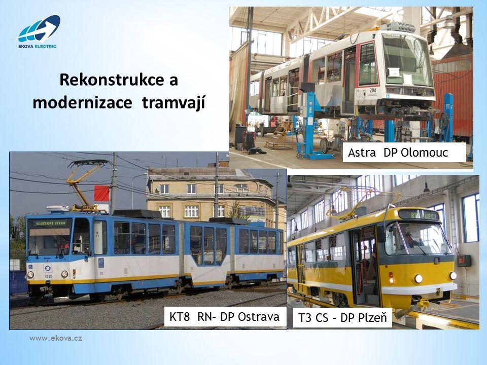 T3CS – DP Liberec T3 CS – DP Plzeň KT8 RN– DP Ostrava Rekonstrukce a modernizace tramvají Astra DP Olomouc