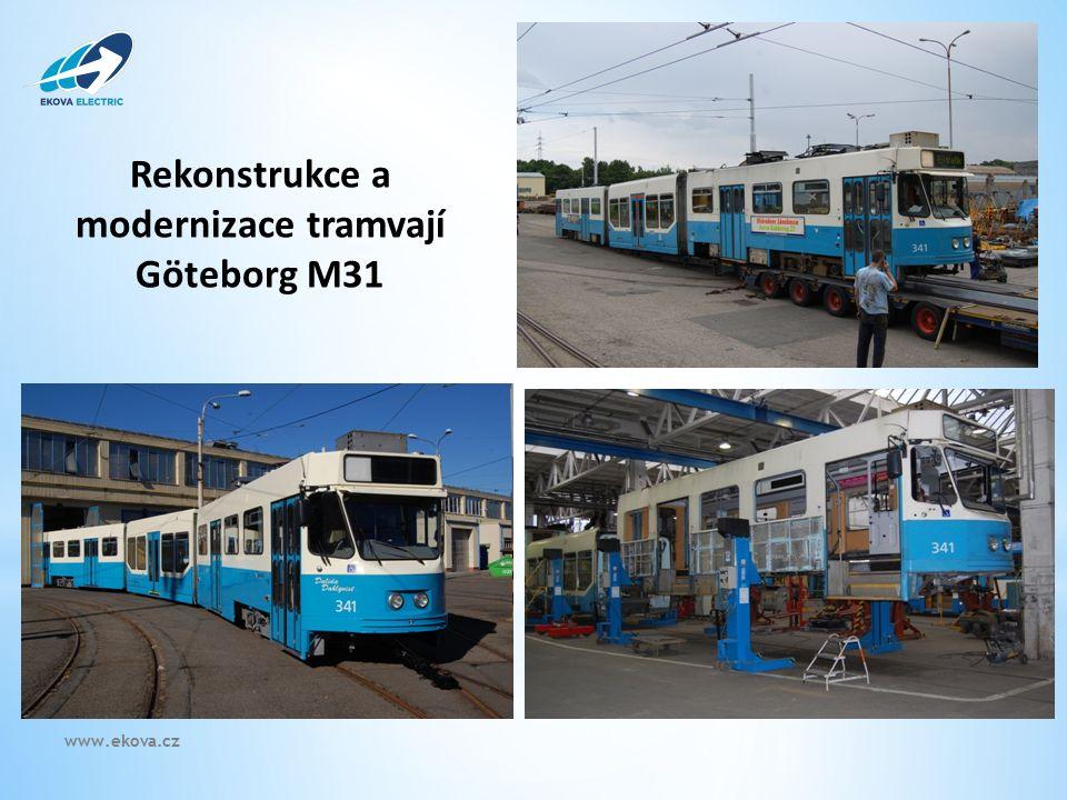 Rekonstrukce a modernizace tramvají Göteborg M31 www.ekova.cz
