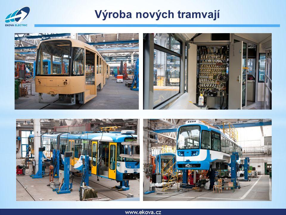www.ekova.cz Výroba nových tramvají
