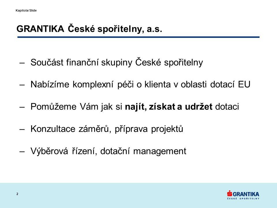 2 Kapitola/Slide GRANTIKA České spořitelny, a.s.