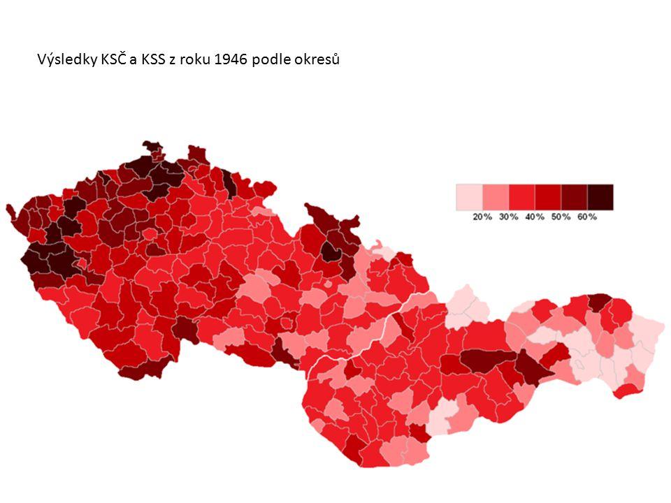 Výsledky KSČ a KSS z roku 1946 podle okresů