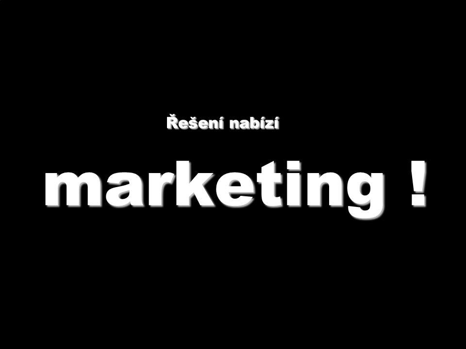 marketing ! Řešení nabízí