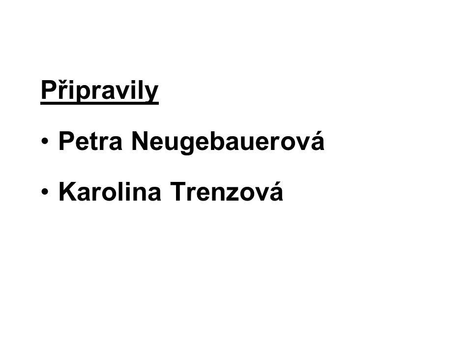Připravily Petra Neugebauerová Karolina Trenzová