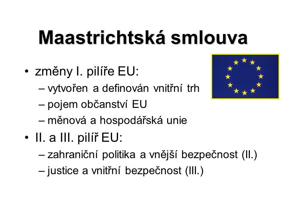 Maastrichtská smlouva změny I.