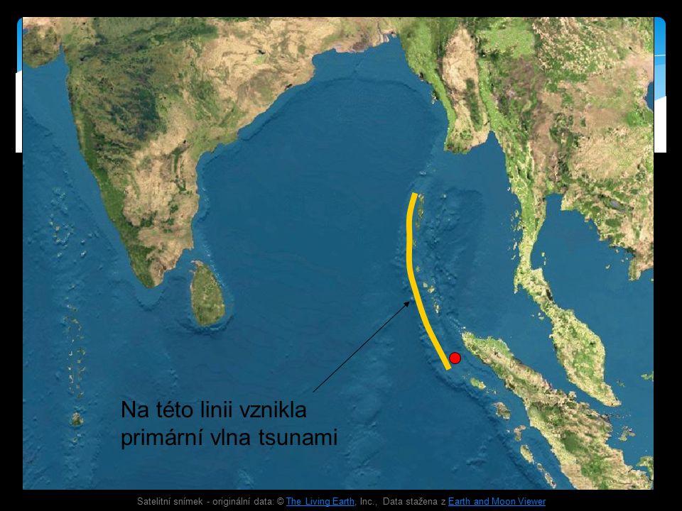 Satelitní snímek - originální data: © The Living Earth, Inc., Data stažena z Earth and Moon ViewerThe Living EarthEarth and Moon Viewer Na této linii