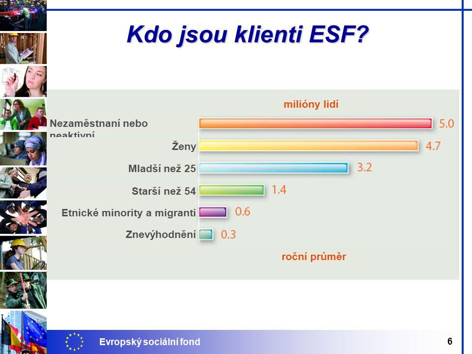 Evropský sociální fond 6 Kdo jsou klienti ESF.