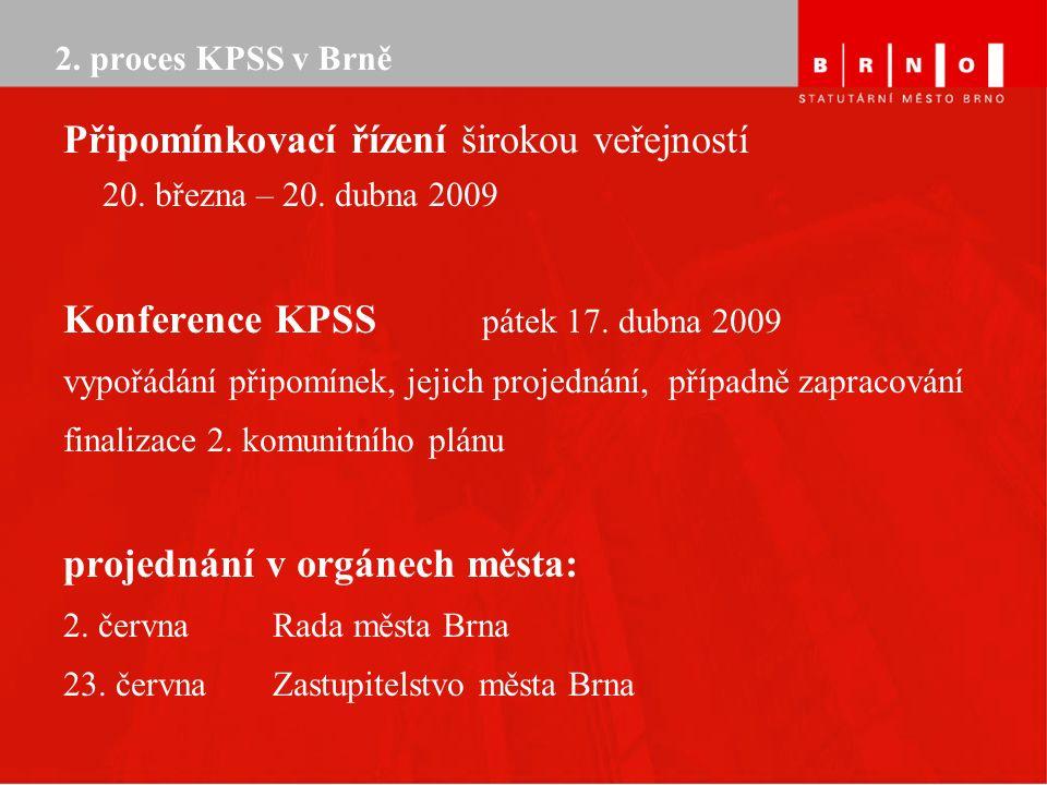 2. proces KPSS v Brně Připomínkovací řízení širokou veřejností 20.