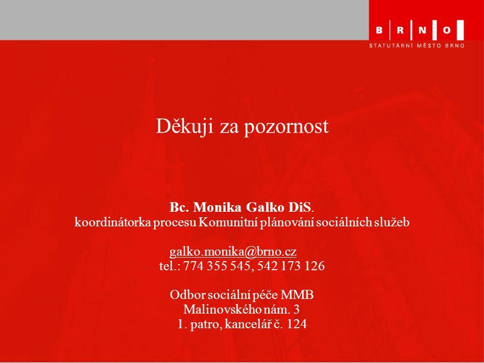 Děkuji za pozornost Bc. Monika Galko DiS.