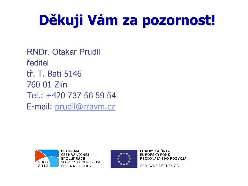 RNDr. Otakar Prudil ředitel tř. T. Bati 5146 760 01 Zlín Tel.: +420 737 56 59 54 E-mail: prudil@rravm.czprudil@rravm.cz Děkuji Vám za pozornost!