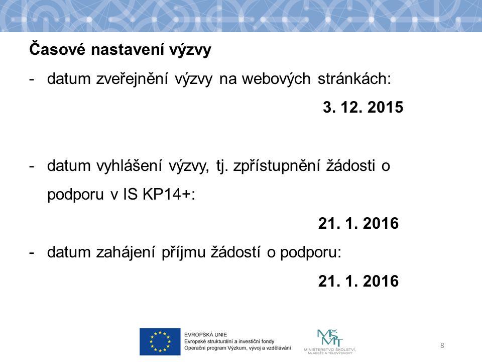 -datum ukončení příjmu žádostí o podporu: 14.3.